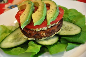 Bun-less Veggie Burger